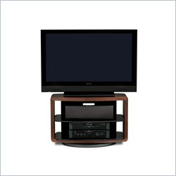 BDI Valera Single Wide 3 Shelf Swivel TV Stand in Chocolate Walnut