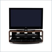 BDI Valera Triple Wide 3 Shelf TV Stand in Chocolate Stained Walnut