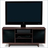 BDI Cirrus Triple-Wide Tall Cabinet TV Stand in Espresso Stained Oak