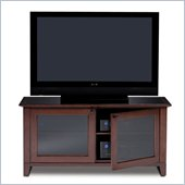 BDI Novia Wide Wood TV Stand in Cocoa Stained Cherry