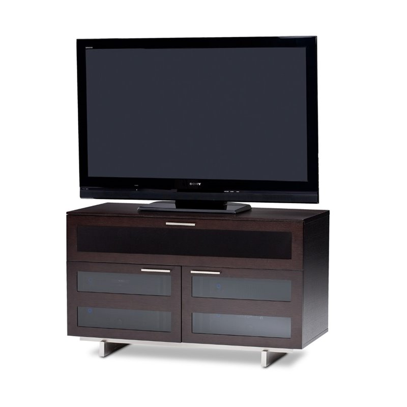 Avion II Cabinet TV Stand in Espresso Stained Oak