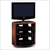 BDI Valera Single Wide 4 Shelf Swivel TV Stand in Natural Cherry