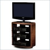 BDI Valera Single Wide 4 Shelf Swivel TV Stand in Chocolate Walnut