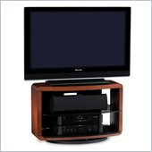 BDI Valera Single Wide 3 Shelf Swivel TV Stand in Natural Cherry