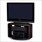BDI Valera Single Wide 3 Shelf Swivel TV Stand in Espresso Oak