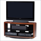 BDI Valera Double Wide 3 Shelf Swivel TV Stand in Natural Cherry