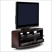 BDI Valera Triple Wide 3 Shelf TV Stand in Espresso Stained Oak