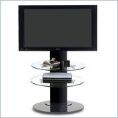 BDI Vista LCD/Plasma TV Stand with TV Mount and 2 Shelves in Black