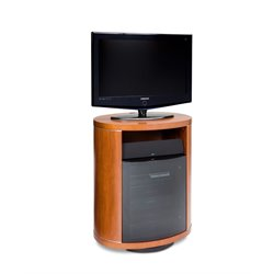 BDI Revo Wood 37 Swivel TV Stand in Natural Stained Cherry
