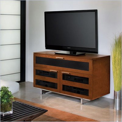 BDI Avion II Cabinet TV Stand in Natural Stained Cherry