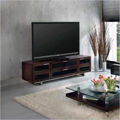 BDI Avion II Quad-Wide Cabinet TV Stand in Espresso Stained Oak