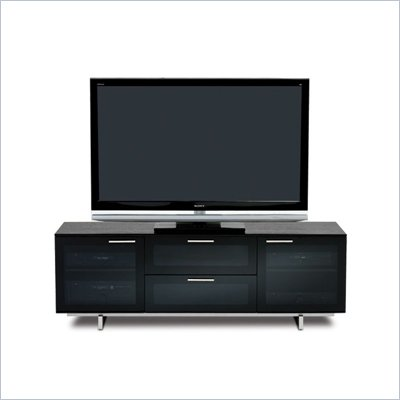 BDI Avion Noir Series II Triple-Wide Cabinet TV Stand in Black
