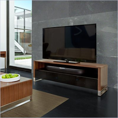 BDI Cascadia 8257 Large TV Stand Cabinet in Natural Walnut