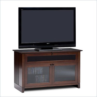 BDI Novia Double-wide cabinet TV Stand in Cocoa Stained Cherry