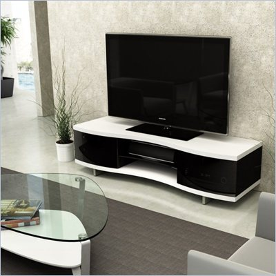 BDI Ola 8137 Contemporary TV Cabinet in Satin White