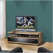Nexera Eclipse Biscotti and Black Plasma/LCD TV Stand
