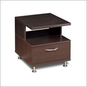 Nexera Eclipse End Table in Rich Dark Espresso
