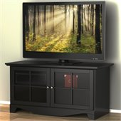 Nexera Pinnacle 49 TV Stand with Doors in Black