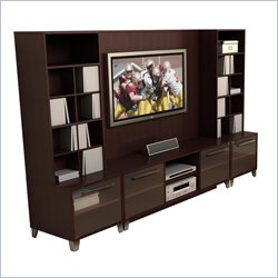 Nexera Brooklyn 4 Piece Wood Entertainment Center Best Price
