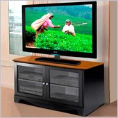 Nexera Pinnacle 47 Black TV Stand with Doors