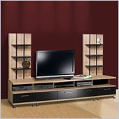 Nexera Eclipse 3 Piece Entertainment Center in Biscotti