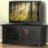 Nexera Pinnacle Black 56 Plasma/LCD TV Stand with Doors in Black Lacquer