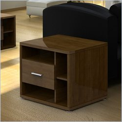 Nexera Concept Cinnamon Cherry End Table with One Drawer Best Price
