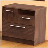 Nexera Aero Lite 3 Drawer Lateral Wood File Storage Cabinet in Truffle