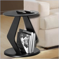 Nexera Boomerang Fine Textured Lacquer End Table in Wenge Finish Best Price