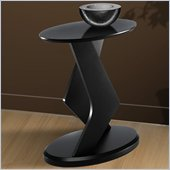 Nexera Boomerang Fine Textured Lacquer 18 Podium Accent Table in Wenge Finish