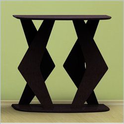 Nexera Boomerang Fine Textured Lacquer Console Table in Wenge Finish Best Price
