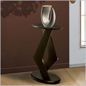 Nexera Boomerang Fine Textured Lacquer 24 Podium Accent Table in Wenge Finish