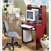 Nexera Dolce Vita Mobile Wood Computer Cart