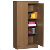 Nexera Storage 5 Shelf Storage Unit in Cappuccino