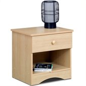 Nexera Alegria Nightstand in Natural Maple