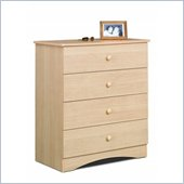 Nexera Alegria 4 Drawer Chest in Natural Maple Finish