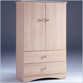 Nexera Alegria 2-Drawer Wardrobe Armoire in Natural Maple