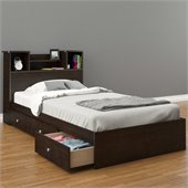 Nexera Pocono Twin Storage Bed in Espresso