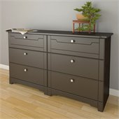 Nexera Dixon 6 Drawer Double Dresser in Espresso