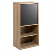 Nexera Infini-T 38 1 Door Bookcase in Biscotti and Espresso