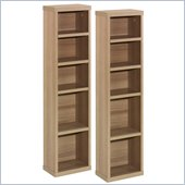 Nexera Infini-T CD/DVD Storage Towers in Biscotti (Set of 2)