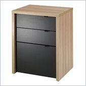 Nexera Infini-T 3 Drawer Filing Cabinet in Biscotti and Espresso