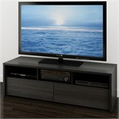 Nexera Sereni-T 60 2 Drawer TV Stand in Black and Ebony