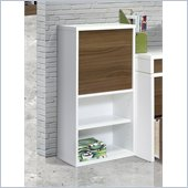 Nexera Liber-T 38 1 Door Bookcase in White and Walnut