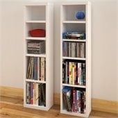 Nexera Liber-T CD/DVD Storage Towers in White (Set of 2)
