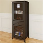 Nexera Elegance 60 Curio Cabinet in Espresso