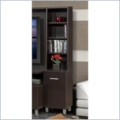 Nexera Element Tall Bookcase Audio Tower in Espresso