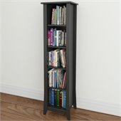 Nexera Tuxedo 60 Slim Bookcase in Black