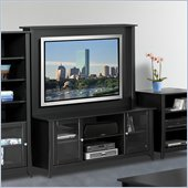 Nexera Tuxedo 58 TV Stand with Hutch in Black