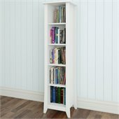 Nexera Vice Versa 60 Slim Bookcase in White